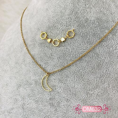 OM632- Collar en Oro Goldfield