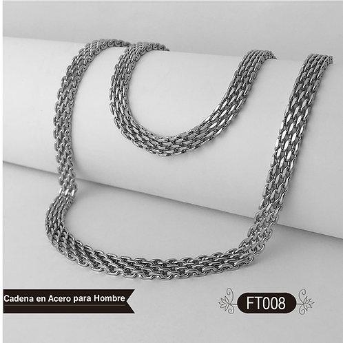 FT008 - Cadena Acero Hombre