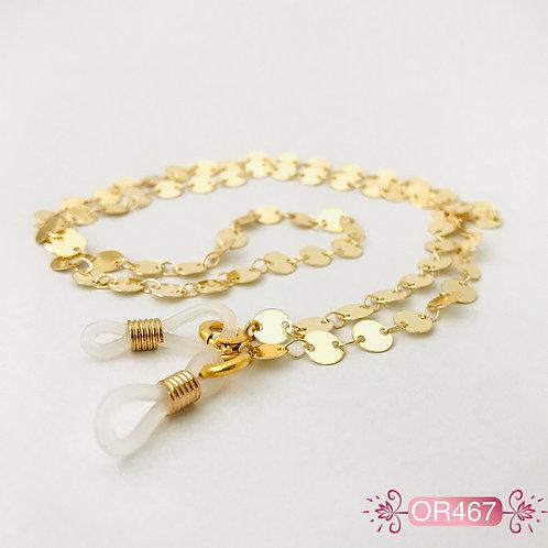 OR467 - Cadena para Gafas en Oro Goldfield