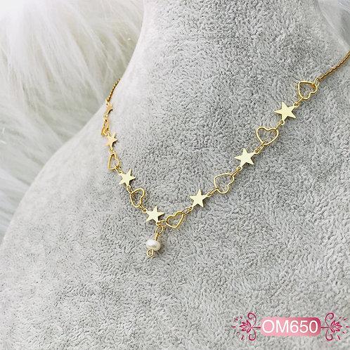 OM650- Collar en Oro Goldfield