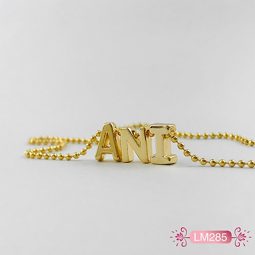 LM285 - Collar en Oro Goldfield