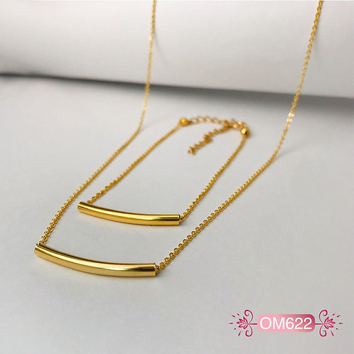 OM622 - Collar y Pulsera en Oro Goldfield