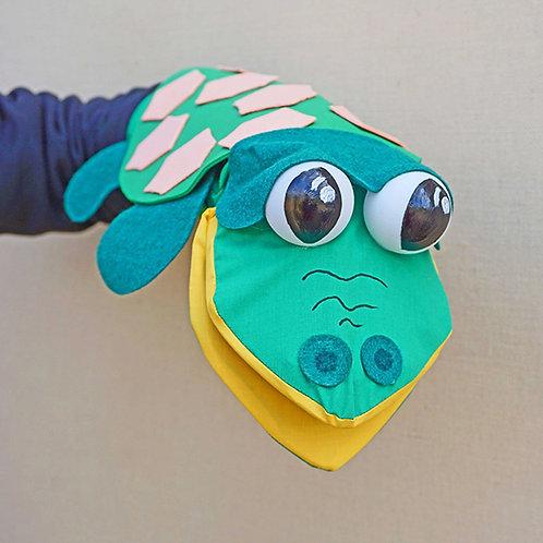 Títere de tortuga verde