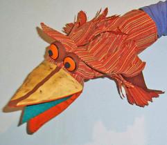 Títere pájaro de guante