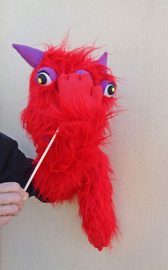 Títere Monstruo rojo