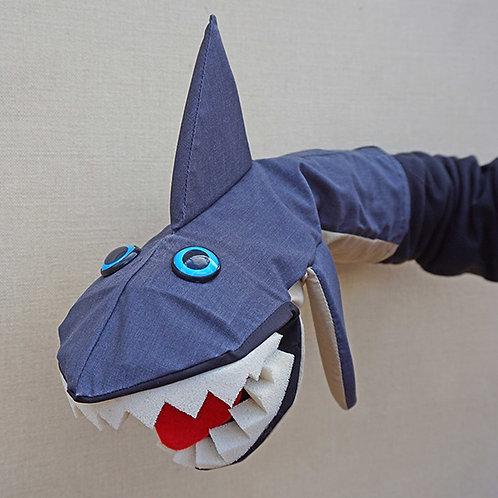 Títere de tiburón  gris