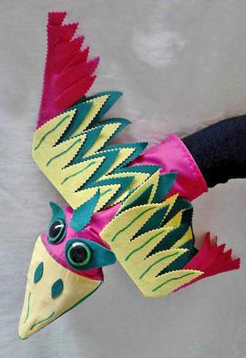 Títere guante, pájaro 2