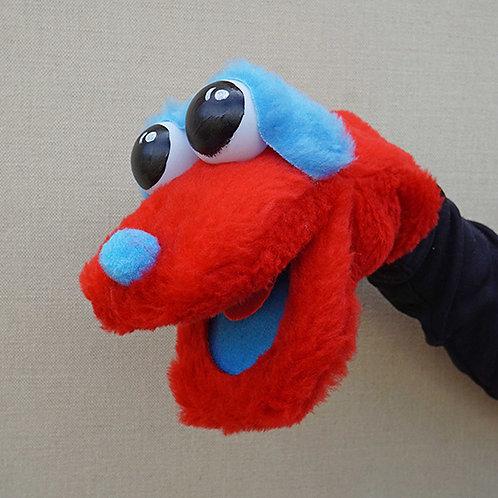 Títere bocón rojo y azul