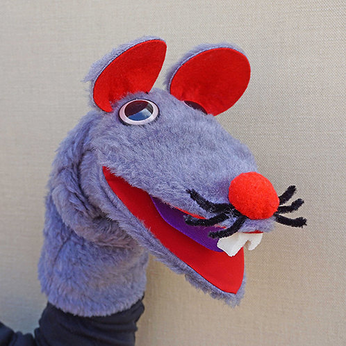 Títere de ratón gris