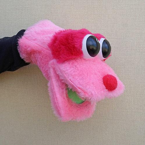 Títere bocón rosa y fucsia
