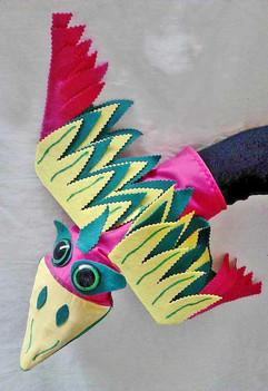 Títere pájaro de mano