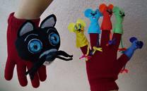Títeres gato y ratones