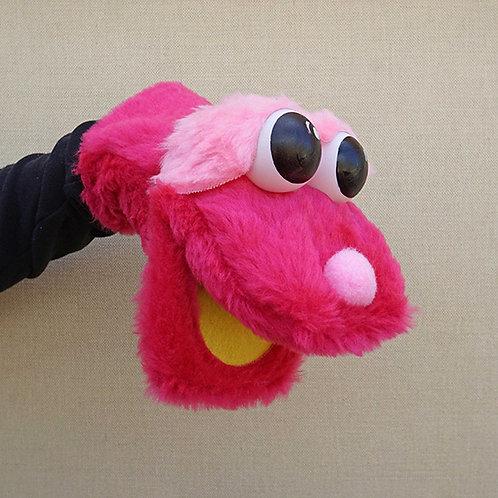 Títere bocón fucsia y rosa