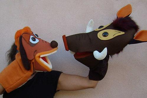 Títeres bocones Timón y Pumba