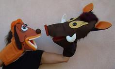 Títeres Timón y Pumba