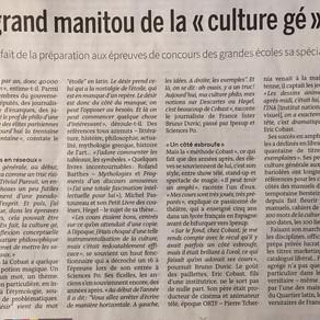 La continuation de la Culture Générale mais par d'autres moyens...