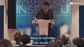 Finale du concoucours d'éloquence du Groupe Inseec-U, le 02/12/2019
