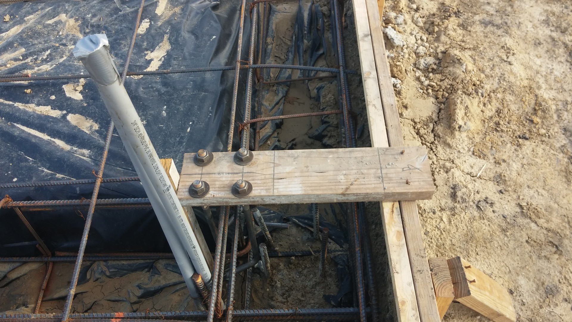j bolts installed before slab is poured