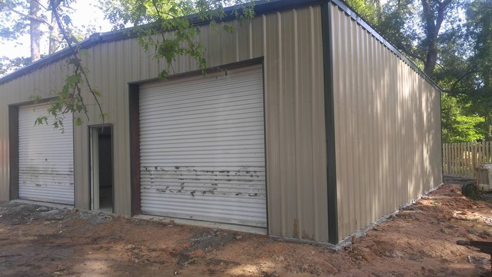 dirty completed steel building