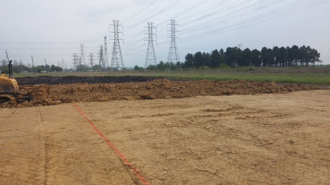 pad site layout with dozer