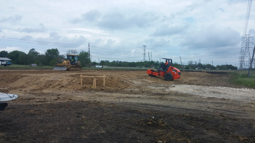 pad site with roller