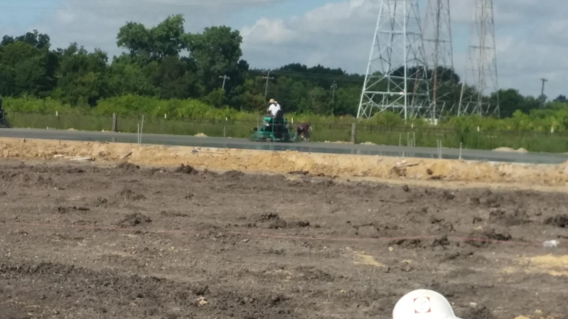 worker finishing concrete