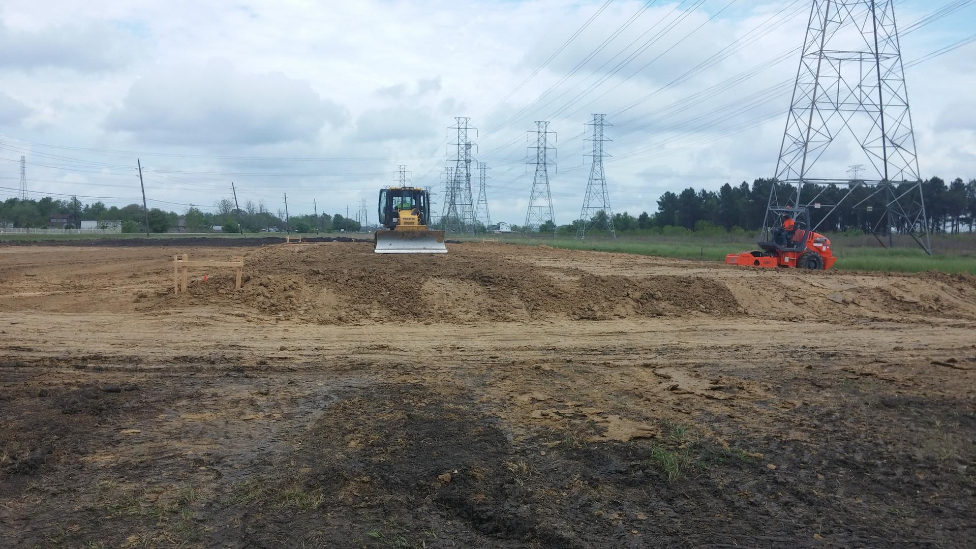 pad site with dozer