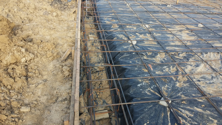 rebar and beams of slab