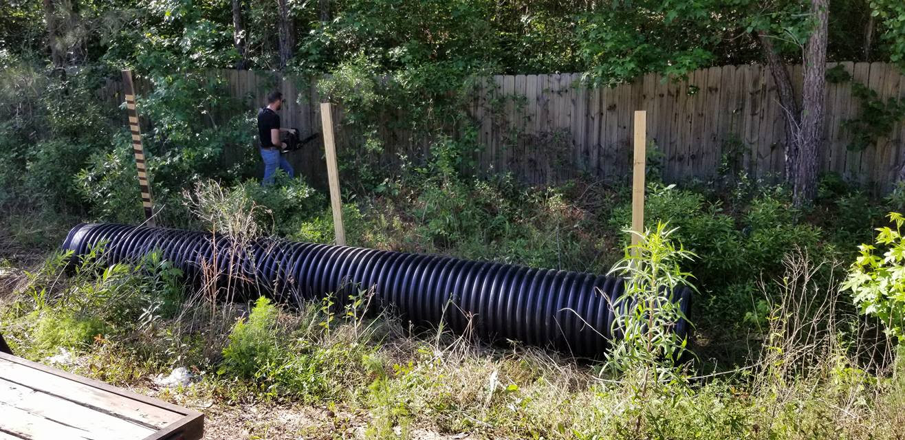 hdpe culvert before placement