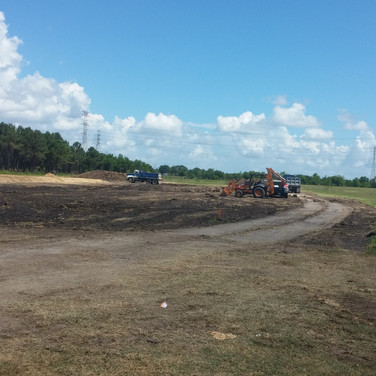 land stripping, pad preparation