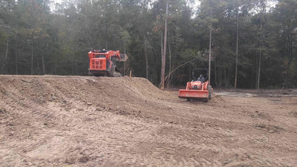 pad site in flood plain