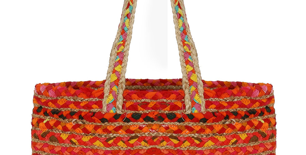 Travel Jute hand  Bag