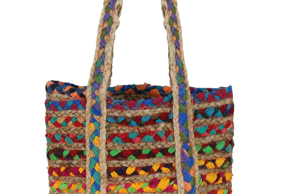 Handcrafted jute Tote Bag