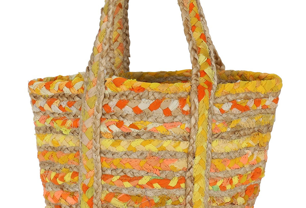 Handcrafted jute tote bag