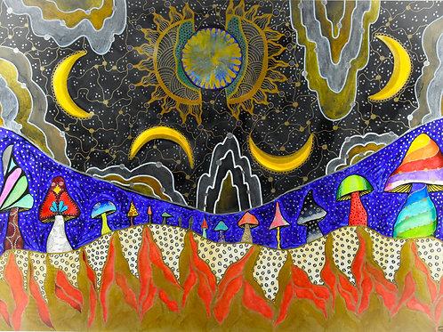 Sun, Moon and Fire
