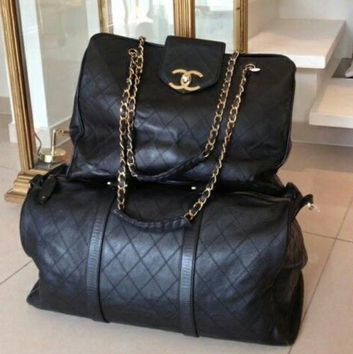 Chanel Vintage Quilted Large Supermodel Weekender Bag