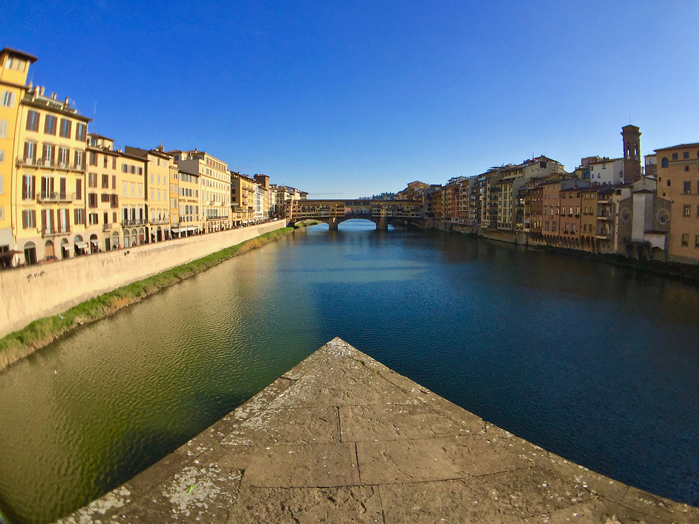 The old bridge of Florence