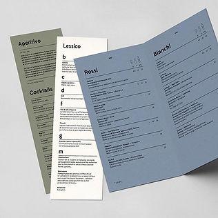 Дизайнерская бумага для меню ресторана