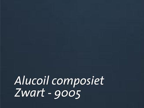 Aluminium komposiet plaat van Alucoil - zwart