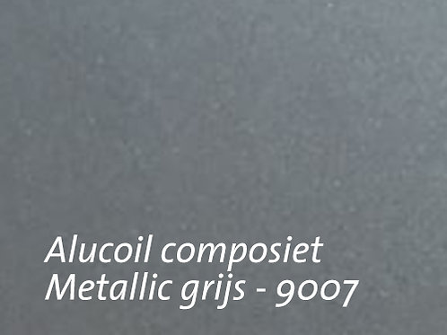 Aluminium composiet plaat van Alucoil - metallic grijs