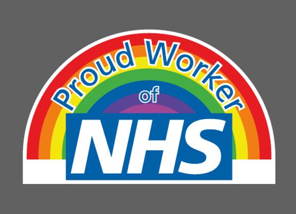 "Small Proud NHS Worker Sticker 6"" x 3.5"" (15cm x 9cm)"