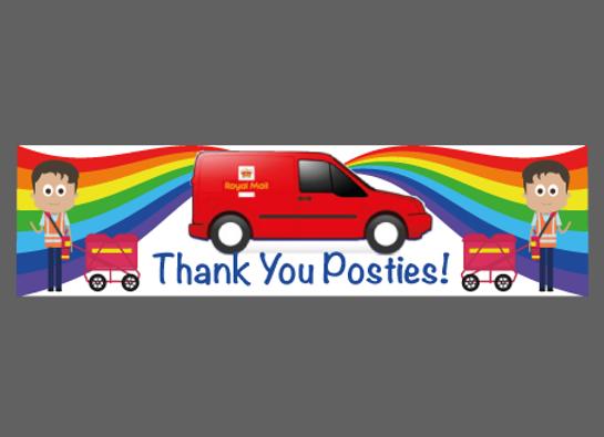 "LetterBox Thank You Posties Sticker 6"" x 1.5"" (15cm x 4cm)"