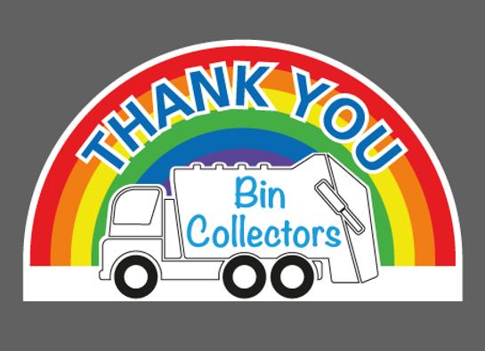 "Medium Thank You Bin Collectors Sticker 9"" x 5"" (23cm x 13cm)"