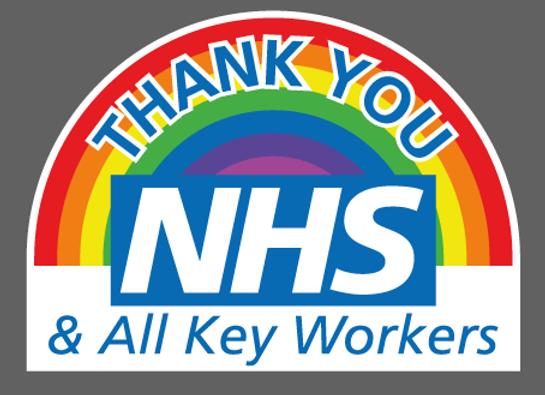 "X Large Thank You NHS Sticker 17"" x 12"" (44cm x 30cm)"