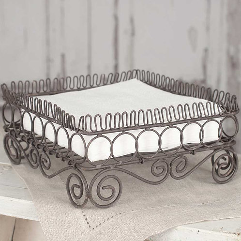 Curled Wire Square Napkin Caddy