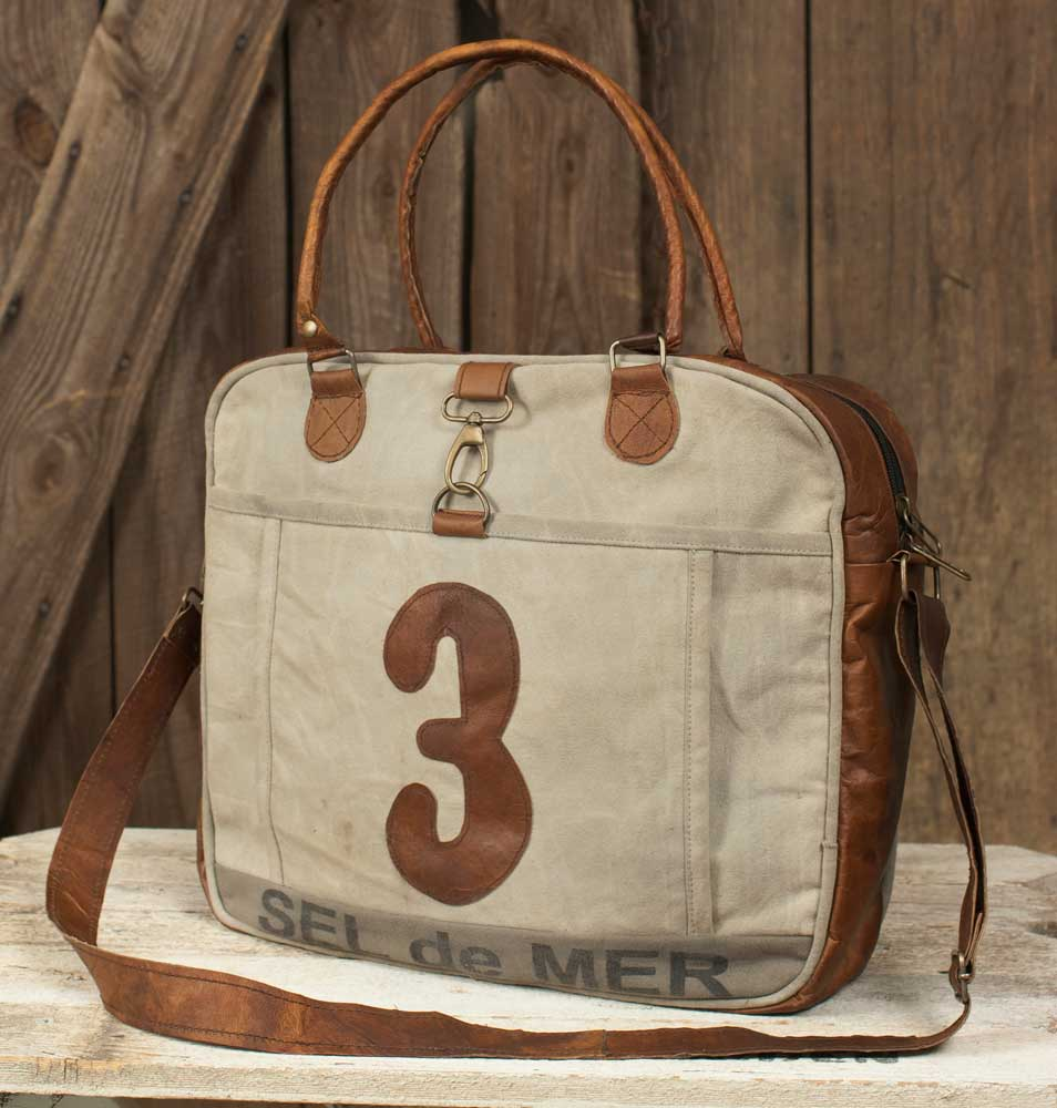 Number 3 Leather Tote