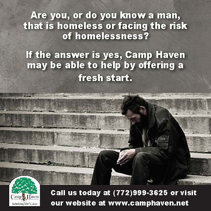 Picture of a homeless man sitting on steps.