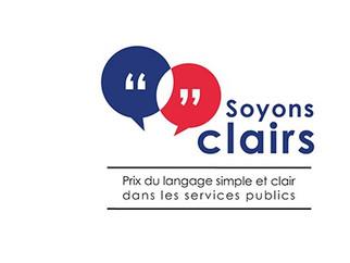 « Soyons Clairs » : la 2e édition du prix du langage simple et clair dans les services publics est l