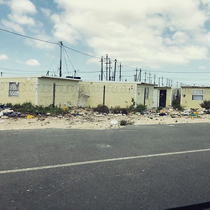 Temporary housing that has become permanent in Cape Town