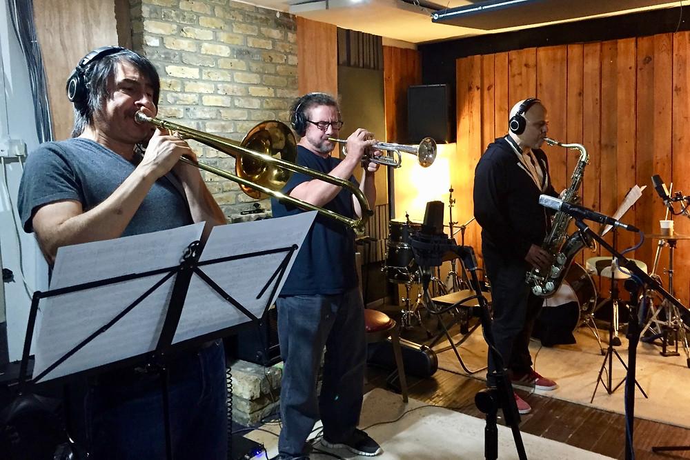 Raul Vallejo - Trombone, Paul Armstrong - Trumpet, Carlos Sosa - Sax